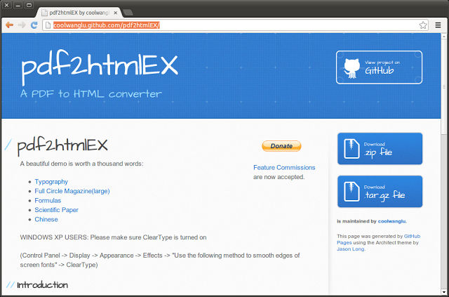 Download and Install pdf2htmlEX