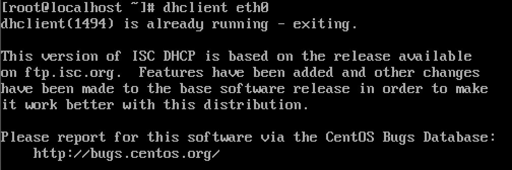 Linux dhclient eth0时出错